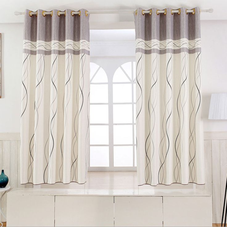 living room window valance ideas%0A   panel Short curtains Window decoration Modern Kitchen Drapes Striped  pattern Children bedroom curtains  Color
