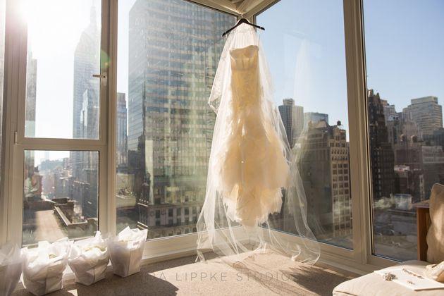 Lace mermaid Vera Wang wedding dress