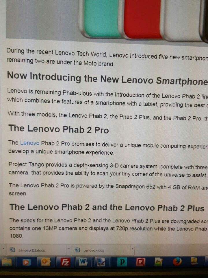What do you say about the new Lenovo phab smartphones? #lenovo #new #smartphones #phab2pro