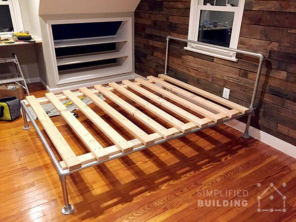 47 diy bed frame ideas built with pipe keeklamp diybedframe pipefurniture beds made with pipe pinterest frames ideas bed frames and pipes - Diy Pipe Bed Frame