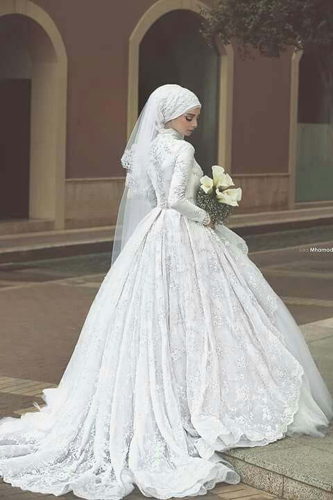 Hijab royal weddings dress