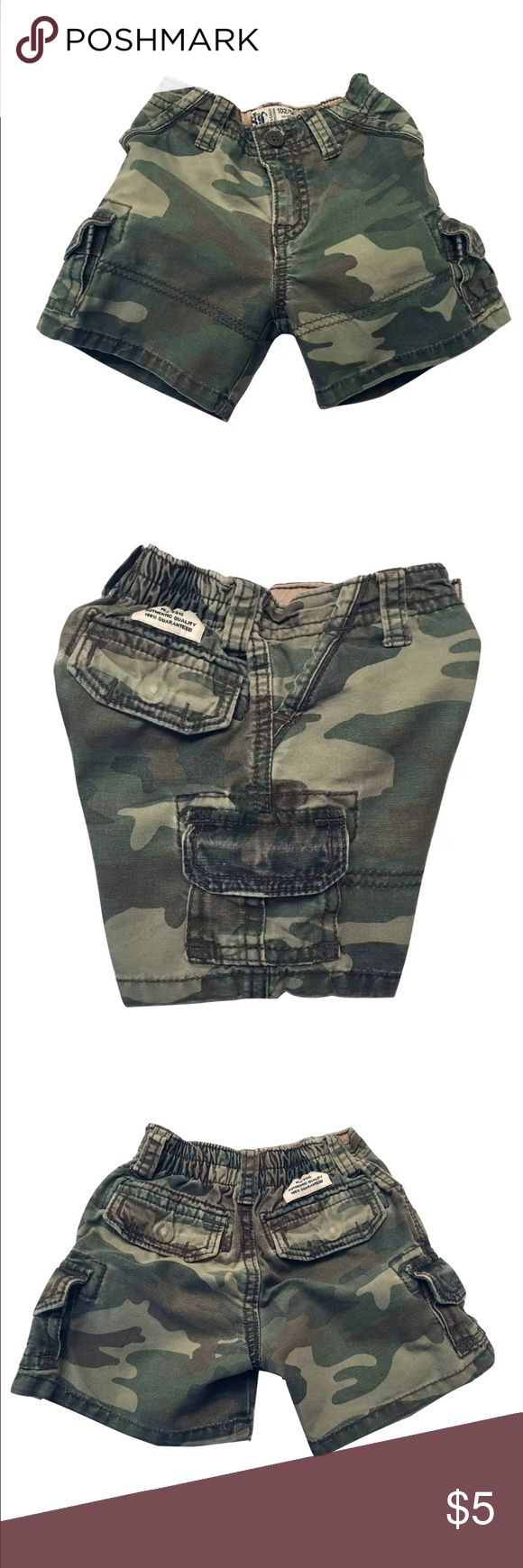 Children Place Cargo Camouflage Shorts Size 12m • Cargo pocket side  • Adjustable waist/elasticized waistband Children's Place Bottoms Shorts