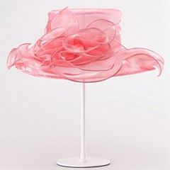 Women's Organza Headpiece-Wedding Special Occasion Hats 1 Piece – USD $ 66.63