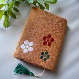 日本刺繍のブックカバー(梅鉢-1)