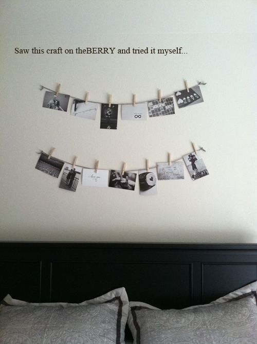DIY picture hanging