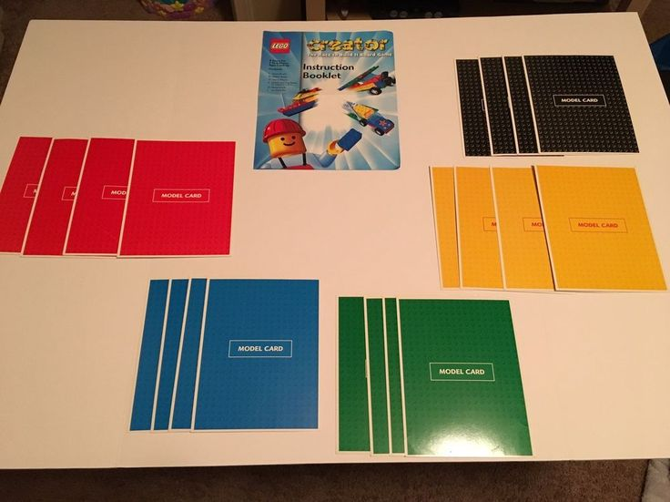 Set of 20 LEGO Creator: The Race to Build It Board Game Replacement Model Cards  | eBay