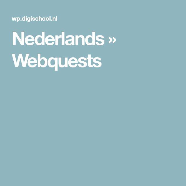 Nederlands   » Webquests