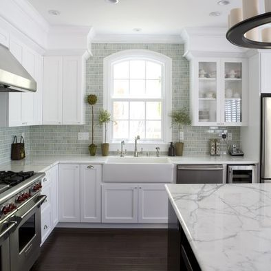 "White Granite ""Super white granite that has the same look as carrera marble but durability of granite."" Source: Fiorella Design"