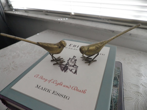 Brass Birds Pair: Brass Animal, Metals Maniac, Cant Escape, Neat Stuff, Brass Birds, Cans T Escape, Beautiful Stuff, Birds Pairings, Brass Monkey