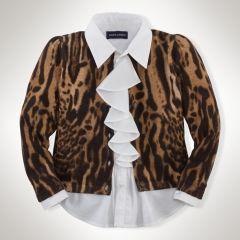 Ocelot-Print Cardigan - Girls 2-6X Sweaters - RalphLauren.com