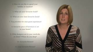WeddingPlanningAcademy - YouTube - creating a design questionnaire