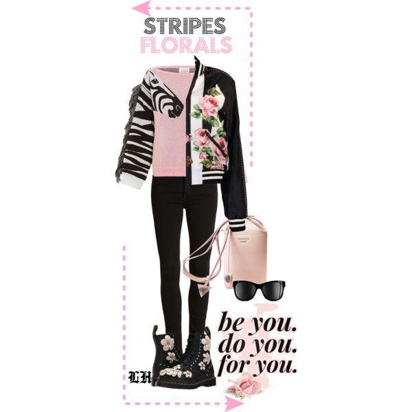 Stripes And Florals! by lheijl on Polyvore featuring Dolce&Gabbana, Citizens of Humanity, Dr. Martens and Chanel