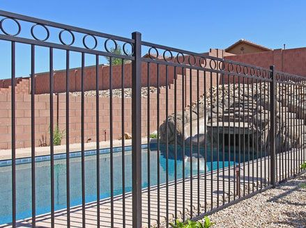 Permanent Pool Fences | Phoenix Landscaping Design & Pool Builders ...