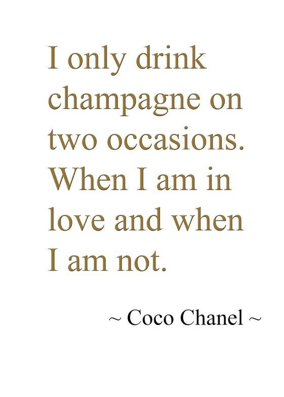 Drink Champagne Quote 2. Champagne quotes on PictureQuotes.com.