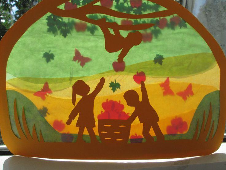 Waldorf Transparentbild Herbst Ernte von Puppenprofi auf DaWanda.com