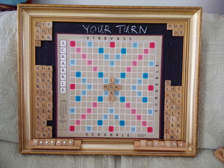 I finally finished making my magnetic scrabble board using my mom's old game I inherited.