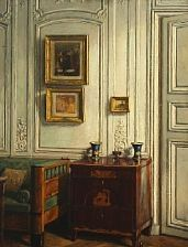 Interior at 24, Rue Visconti, Paris by Einar Wegener