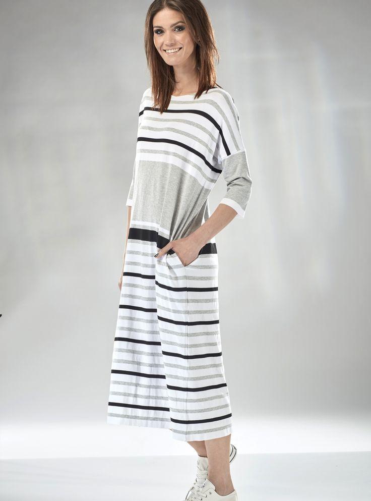 #mapepina #polscyprojektanci #sukienka w #pasy #szara #moda #nowa #kolekcja #fashion #dresses #madeinpoland #fashiontrends #polishgirl #womensfashion #wowstyle #trendy