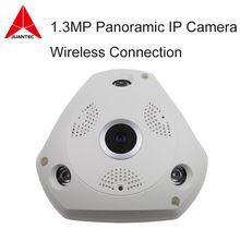 3D VR Camera 360 Degree Panoramic IP Camera 960P 1.3MP FIsheye WIreless Wi-fi Camera IP SD Card Slot Multi Viewing Mode