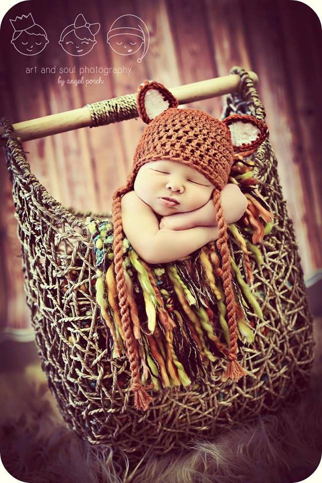 Newborn Photo Prop Baby Fox Hat by MitziKnitz on Etsy, $25.00