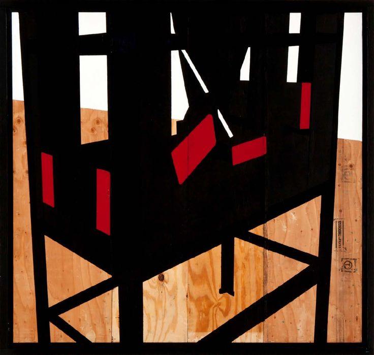 Serge-Alain Nitegeka (b 1983). FRAGILE CARGO IV: STUDIO STUDY IV 2012. Paint on wood, 171 x 180cm.