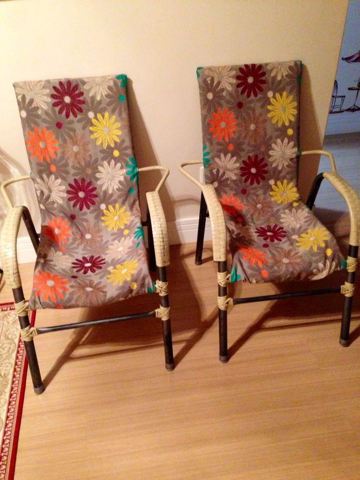 Cadeiras restauradas com tecido