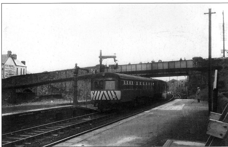 Derry to Belfast train arrives for the last time Febuary 1964 - Dungannon