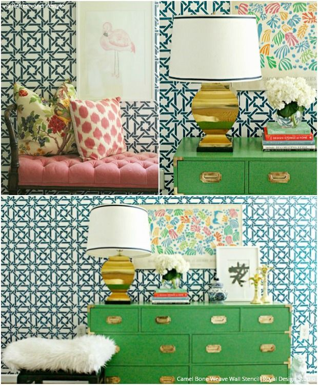 36 best Palm Beach Bedroom images on Pinterest | Home, Stencils ...