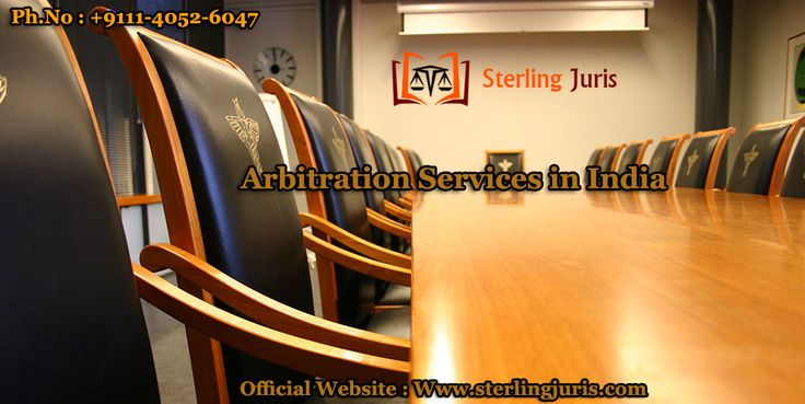 Arbitration is an alternative dispute resolution method to litigation, voluntarily chosen by parties who want to resolve a dispute outside the court. Sterling Juris, a prominent law firm acknowledged for providing the best arbitration services in India. At our end, arbitration services are provided by knowledgeable and experienced lawyers, who understand each case to provide unbiased decision, satisfying both the parties. Contact us for further information.   Contact No : 9111-4052-6047