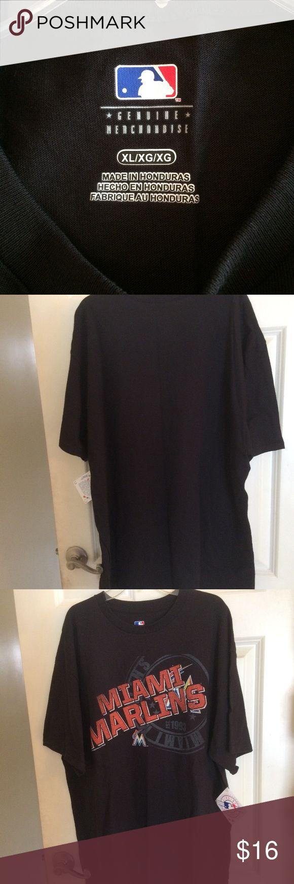 Miami marlins baseball tee shirt Miami marlins baseball tee shirt XL NWT 100%cotton Shirts Tees - Short Sleeve