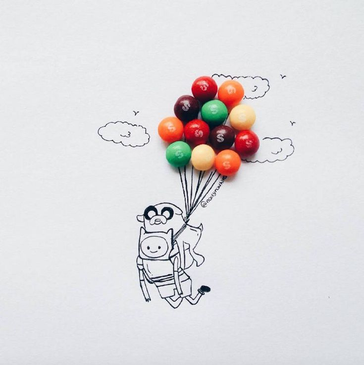 Cartoon Illustrations completed with Childhood Sweets – Fubiz Media
