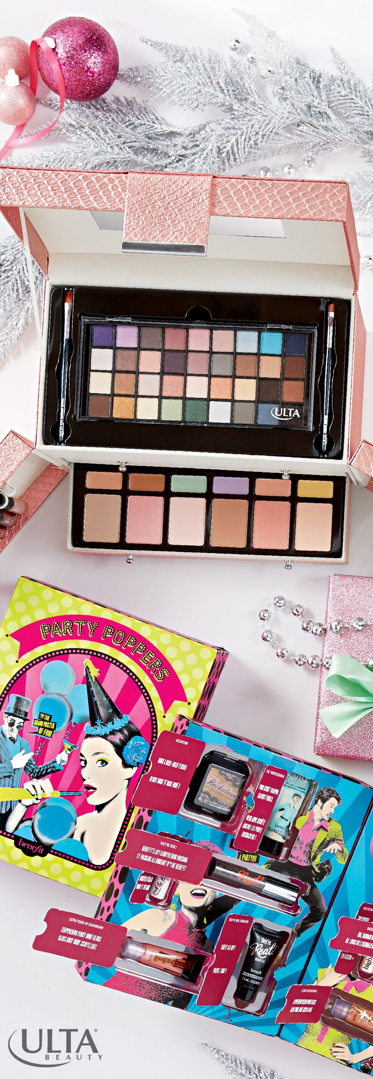 For the beauty super fan in your life, try gifting a fun party kit from benefit or a full beauty kit from Ulta Beauty collection!