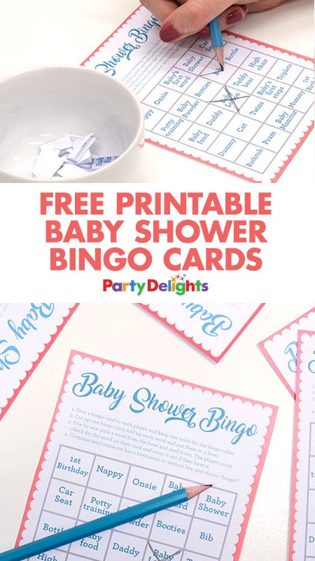 Looking for a fun baby shower game? Download our free printable baby shower bingo cards!