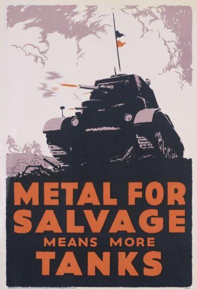 British WWII poster. Metal Salvage (Imperial War Museum Art.IWM PST 14729)