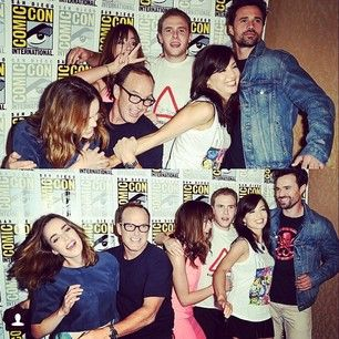 """We don't have fun at comic con. #agentsofshield #sdcc2014"" 