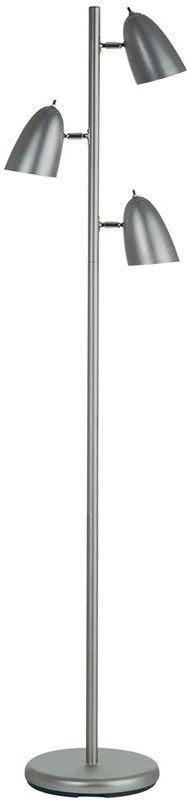 Dainolite Satin Chrome 3 Head Adjustable Floor Lamp DM330F-SC