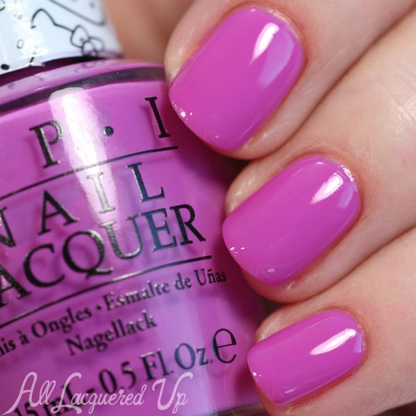 OPI Hello Kitty Collection Swatches & Review - Super Cute in Pink