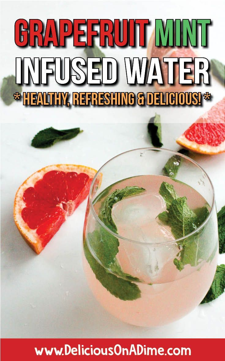 This Grapefruit Mint Infused Water is healthy, refreshing and a delicious alternative to expensive bottled drinks that are filled with sugar substitutes.  It's easy to drink more water every day by making your own flavoured water at home! #infusedwater #drinkmorewater #healthgoals #flavouredwater #detoxwater #detox  via @deliciouson0235