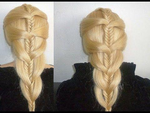 Fischgrätenzopf Frisur:Flecht Frisuren.Zopffrisur.Ausgehfrisur.Fish Braid Hairstyle.Trenzas Peinados - YouTube