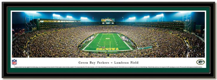 Lambeau Field panoramic photo Home of the Green Bay Packers NFL football team. #LambeauPictures #ThePack