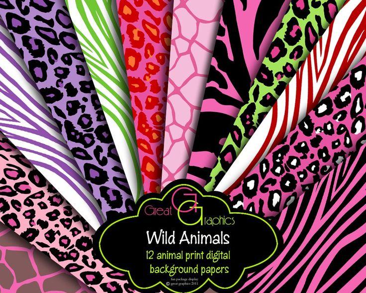 wild animal print backgrounds digital animal print background paper printable animal print background