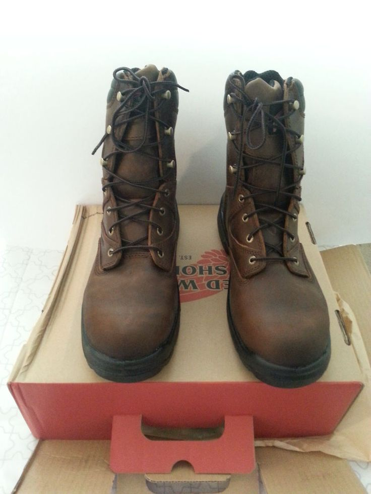 """New Red Wing 8"""" Brown Internal Metatarsal Boots in Size 9 #RedWingShoes #WorkSafety"""