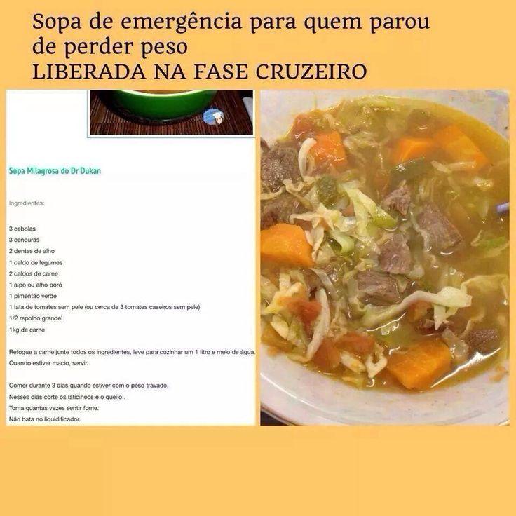 Sopa para quem parou de perder peso
