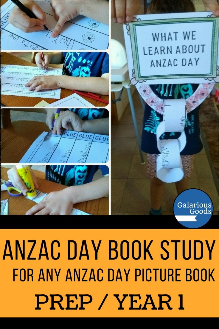 Use any ANZAC Day picture book in your Prep/Foundation or Year 1 classroom with this ANZAC Day book study. This book study includes recall, vocabulary, connection and questioning activities and can be used to compare different books. Perfect for small group and whole class activities. #galariousgoods