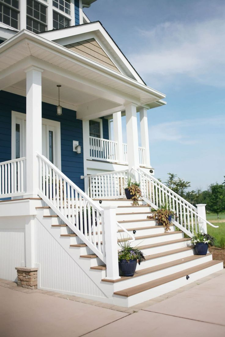 Best 25 exterior concrete paint ideas on pinterest - Homes front porch designs pictures ...
