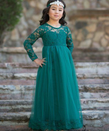 a36fb00fd3dc Another great find on #zulily! Dark Green Isabelle Dress - Toddler & Girls  #zulilyfinds