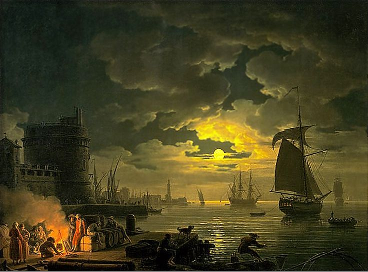 Claude Joseph Vernet Art | Claude Joseph Vernet, Harbor of Palermo , 1769
