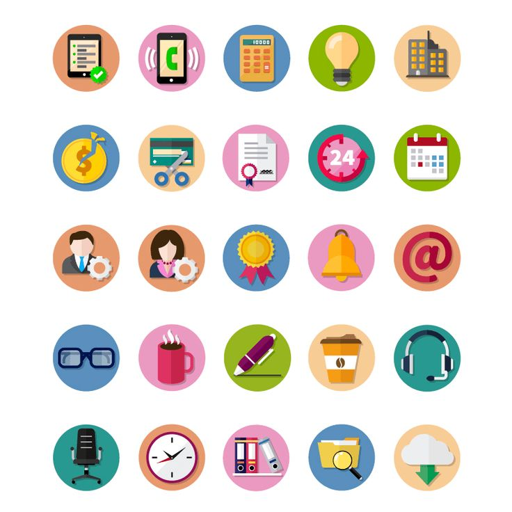 Free Circular Vector Business Icons, #Business, #Circular, #Flat, #Free, #Graphic #Design, #Icon, #PNG, #Resource, #Round, #SVG, #Vector