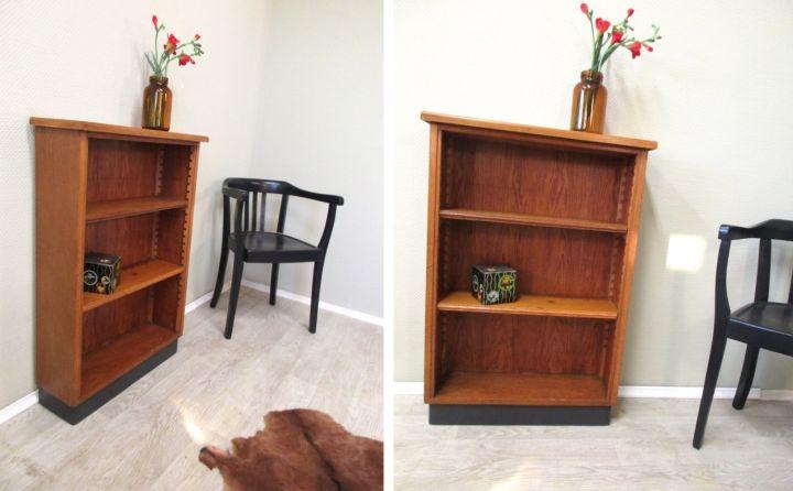 liebe vintage freunde hier bieten wir euch ein kleines mit eichenholz furniertes b cherregal an. Black Bedroom Furniture Sets. Home Design Ideas