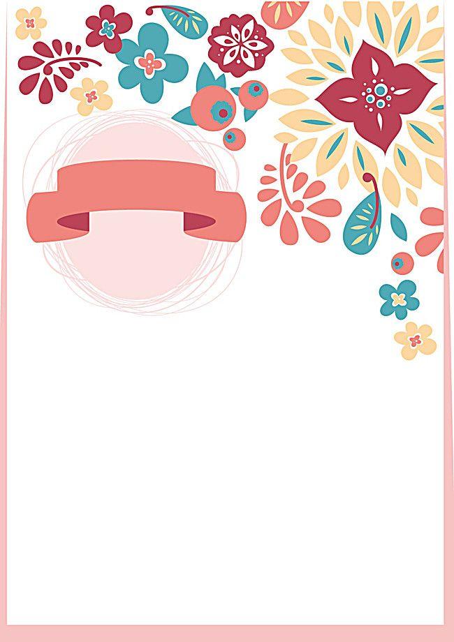 Wedding Invitation Card Cards Hand Painted Cartoon Vector
